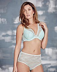 Corded Lace Half Padded Mint Bra