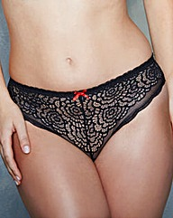 Brazillian Style Black Lace Briefs