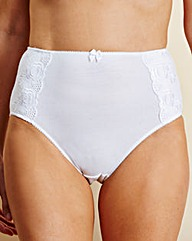 White Cotton Comfort Full Fit Briefs