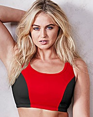 Black/Red High Impact Sports Bra