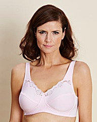 2 Pack Non Wired Rose/White Bras