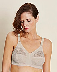 Dotty Full Cup Non Wired Natural Bra