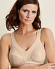 2 Pack Sally Minimiser Natural/Blk Bras
