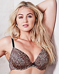 Leopard Print Super Plunge Wired Bra