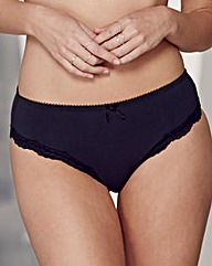 2Pack Sophie Mid Rise Black/White Briefs