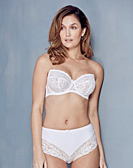 Ella Lace Multiway Wired White Bra
