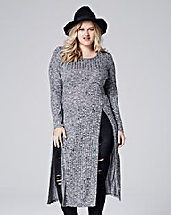 Longline High Split Tunic