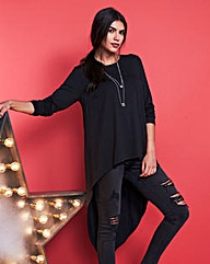 Dip Back Asymmetric Tunic