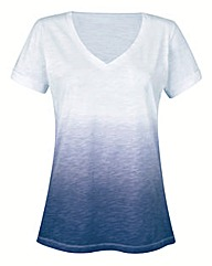 Navy Ombre Short Sleeve T Shirt