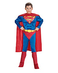 Boys Muscle Chest Superman Costume