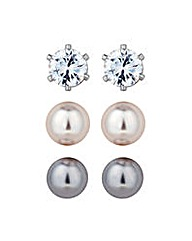 Jon Richard Stud Earring Trio Set
