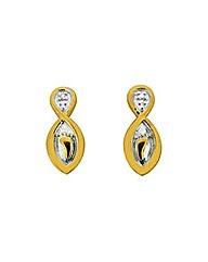 Footprints Diamond Set Earrings