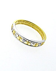 Gold Plated Silver Memories Diamond Ring