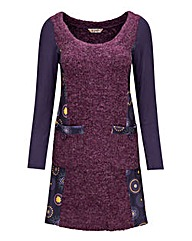Joe Browns purple multi jumper