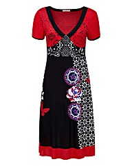Joe Browns Tribal Print V Neck Dress