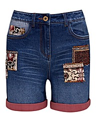 Joe Browns Denim Patch Shorts