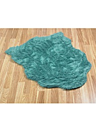 Faux Fur Shaggy Half Moon Rug