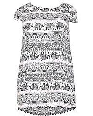 Samya Elephant Print Shift Dress