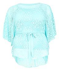 Samya Floral Crochet Overlay Top