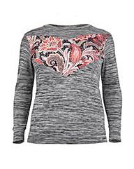 Koko Paisley Contrast Sweatshirt