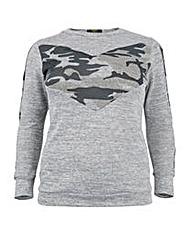 Koko Camouflage Contrast Sweatshirt
