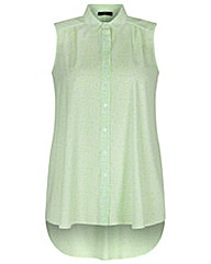 Koko Lime Green Sleeveless Shirt
