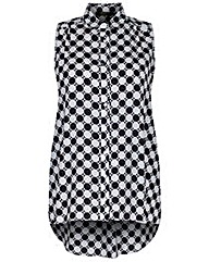 Koko Dot Print Sleeveless Shirt
