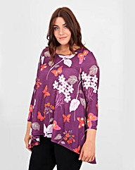 Koko Butterfly Floral Print Top