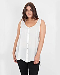 Koko Button Up Sleeveless Top