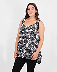 Koko Flower Print Button Up Top