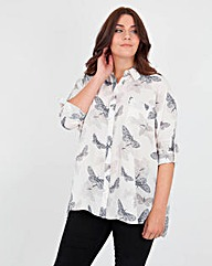 Koko Butterfly Print Long Sleeve Shirt