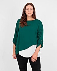Koko Two Tone Diagonal Top