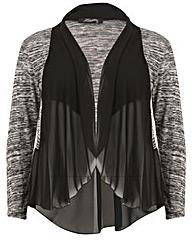 Feverfish Knit Chiffonl Jacket
