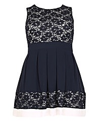 Samya Lace Print Skater Dress