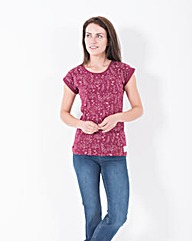 Brakeburn Winter Flower Boyfriend Tee