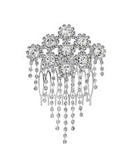 Mood crystal floral diamante hair comb