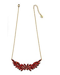 Fiorelli Costume leaf necklace