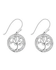 Simply Silver tree of life earring