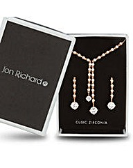 Jon Richard double drop jewellery set