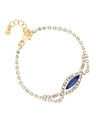 Jon Richard Blue diamante bracelet
