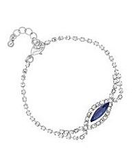 Jon Richard Blue diamante bracelet