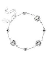 Jon Richard Silver clara link bracelet