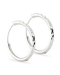 Simply Silver sparkle hoop earring