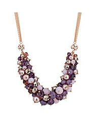 Jon Richard Purple pearl bead necklace