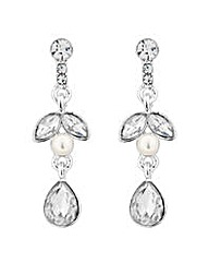 Jon Richard Silver leaf pearl earring