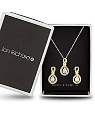 Jon Richard Gold infinity jewellery set
