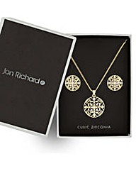 Jon Richard Gold cut out jewellery set