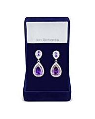 Jon Richard Purple peardrop earring