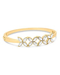 Jon Richard Gold floral row bangle
