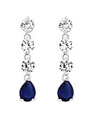 Jon Richard Blue peardrop drop earring